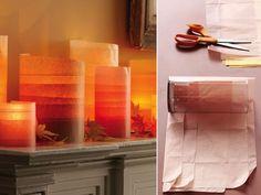 Construction paper + glass vases = amazing idea.