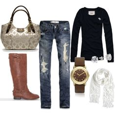 black and brown everyday fall outfit (: