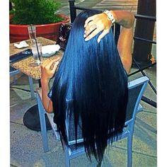long blueblack hair