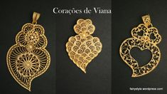 Coração de Viana para todos os gostos Portugal, Gold Filigree, Fashion History, Cool Tattoos, Tatoos, Portuguese, Jewerly, Pendants, Brooch