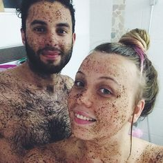 That's a whole lot O' man right there. And one beautiful babe. #realmenscrub #coupleswhoscrubtogetherstaytogether