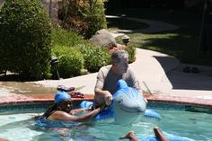 4TH Of July 2014 in the pool at The B's home, Bryan & Brian in Fresno...