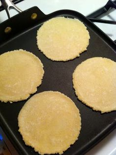Three ingredient, homemade, gluten free tortillas