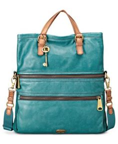 Fossil Handbag, Explorer Leather Tote - Fossil - Handbags & Accessories - Macy's