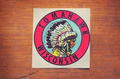 Vintage Tomahawk Wisconsin Travel Sticker by 1322 on Etsy, $8.00