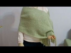 Şiş ile Sökmeli Kolay Gelin Şalı Yapımı - YouTube Moda Emo, Crochet Shawl, Knitting Stitches, Knitted Hats, Pullover, Sweaters, Pattern, Youtube, Piercings