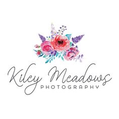 Premade Logo - Watercolor Floral Bouquet Premade Logo Design - Customized with Your Business Name!