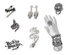rings and earrings from Rock by Sweden