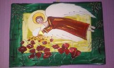 obraz malowany ręcznie farbami akrylowymi na ponad stuletnie