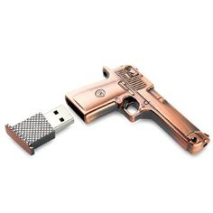 Metal Gun USB Flash Drive, beats the heck out of the cell phone taser, Heaven forbid you should attempt to answer it instead of your iPhone...zap!