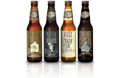 Third Street Brewhouse bottles - Custom typography Gaslight Creative