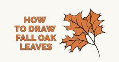 Learn to draw fall oak leaves. This step-by-step tutorial makes it easy. Kids and beginners alike can now draw great looking autumn oak leaves. How To Draw Steps, Learn To Draw, Drawing Tutorials For Kids, Drawing Tips, Drawing Ideas, Thanksgiving Drawings, Spiderman Drawing, Nature Drawing, Oak Leaves