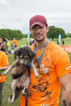 HQ - David Gandy and Dora The Explorer yesterday at the Muddy Dog Challenge 2017 raising money for Battersea Dogs & Cats Home