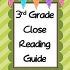Step by step instructions on how to do a close reading in your classroom with any text. The guide will explain how to conduct a first and second re...