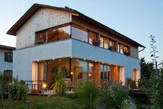 Unser Referenzobjekt Holzhaus 1 im Allgäu, Holzhäuser der Holzhauswerkstatt Riedle & Bader in Baisweil