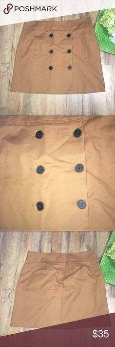 "LOFT double button down front skirt Waist: 16"" | Length: 17.5"" LOFT Skirts Mini"