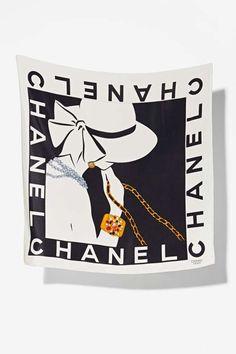 vintage chanel rue de cambon lady silk scarf vintage goldmine 1 chanel