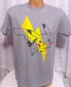 f4408397f Pokemon T-Shirt Gray Distressed Tee Graphic Men Medium #Pokemon #GraphicTee  Pokemon T
