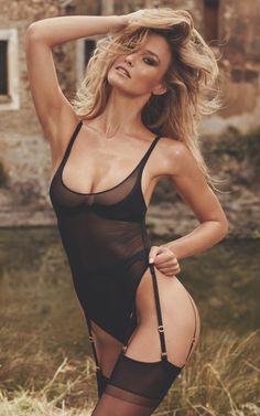 Bar models black bodysuit from Agent Provocateur