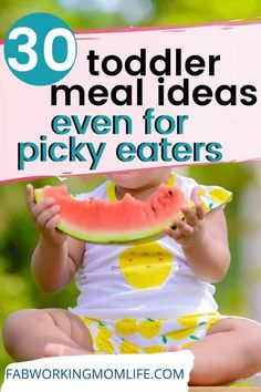 Need quick and easy toddler recipes and toddler meals for picky eaters? This roundup contains healthy toddler meal ideas as well as finger foods for toddlers and 1 year old meal ideas. Toddler Finger Foods, Healthy Toddler Meals, Toddler Snacks, Toddler Preschool, Toddler Activities, Toddler Recipes, Toddler Dinners, Kid Recipes, Baby Finger