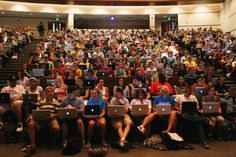 The modern university lecture theatre - Note-taking provisions may include: audio recording, a peer note-taker (paid or volunteer), use of a laptop for note-taking and/or access to professor/instructor/supervisor notes/PowerPoint/outlines. Missouri, Los Millennials, Elearning Industry, Teacher Must Haves, 21st Century Learning, Student Engagement, College Life, College Years, College Classes