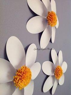 Moldes y tutorial para aprender cómo hacer flores gigantes decorativas