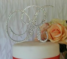 Monogram Cake Topper by InitialMoments on Etsy