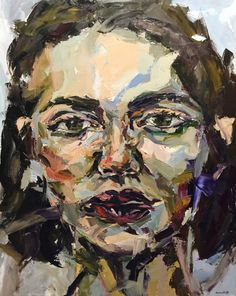 """Painting by Marina Rolfe """"Not there""""- x Melbourne, Australia Abstract Portrait Painting, Painting & Drawing, Human Figure Artists, Frank Auerbach, Pablo Picasso, Paint Brushes, Abstract Expressionism, Face Paintings, Hand Painted"""