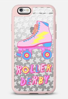 Roller Derby iPhone 6s case in Pink Gray & Clear by @jadeboylan | @casetify