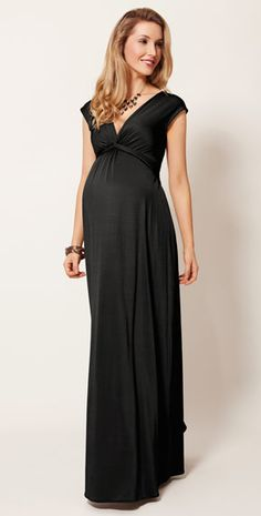 Clara Maternity Gown Long (Black) by Tiffany Rose