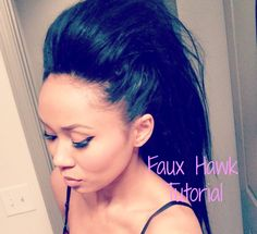 Quick and Easy - Faux Hawk for Long Hair she's so beautiful!