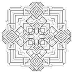 images of printable hard geometric coloring pages | Geometric Shapes ...