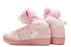 Jeremy Scott X Adidas JS Teddy Bear Pink Shoes #Lovely #pink #products