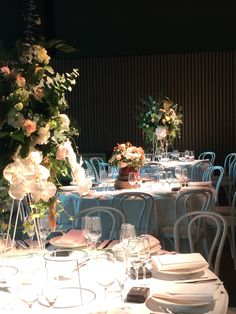 A lavish floral installation