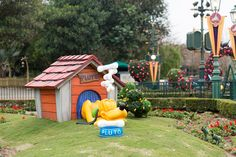 Pluto in the Mickey and Friends Springtime Garden at Hong Kong Disneyland