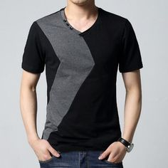 Fashion Mens Slim Fit Crew Neck T-shirt Men Short Sleeve T Shirt Casual Shirt Tee Tops Men Size M L XL 2XL 3XL 4XL