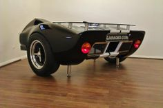 Our GT40 Desk. Suffice to say, we utterly love it! Made by the folks at Parc Ferme Bespoke Automotive Furniture