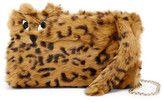Alice + Olivia Genuine Rabbit Fur Bengal Tiger Muff Shoulder Bag