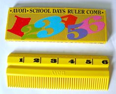 Vintage Avon School Days Comb in Box