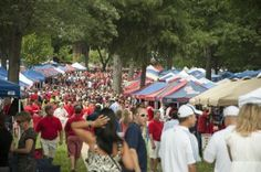 The Grove at Ole Miss is, quite possibly, my most favorite place on Earth. I love it on game day, I love it in spring when the dogwoods bloom, I love it in summer when you can smell the magnolia blooms, I love it in fall when the leaves turn color, and I even love it in winter when the trees are bare. LOVE!