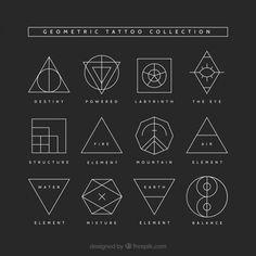 The Best Minimalist Tattoo Ideas - My Minimalist Living Geometric Tattoo Meaning, Geometric Tattoo Back, Geometric Tattoos Men, Geometric Tattoo Design, Triangle Tattoo Meaning, Minimalist Tattoo Meaning, Geometric Symbols, Geometric Graphic, Triangle Tattoos