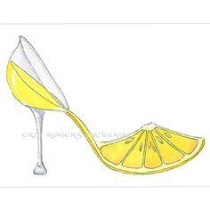 Lemoncello Shoe Art 8x10 Print by eringopaint on Etsy, $21.00