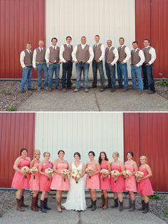 Western Wedding Ideas - Rustic Pink and Lace Backyard Minnesota Wedding | Davista Photography
