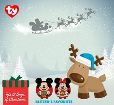 Even reindeer want Christmas presents and Blitzen loves the Mickey and Minnie holiday balls! COMMENT TO BE ENTERED TO WIN a Mickey and Minnie holiday ball on this post.  Sweepstakes runs 12/8/15-12/9/15. Winners announced 12/9/15 on Pinterest. See official rules here: https://woobox.com/offers/rules/8u86i4