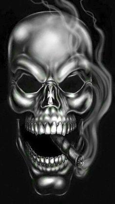 scary skulls Popular Evil Skull Wallpaper By Curtisbundy Drzd is Evil Skull Tattoo, Skull Tattoo Design, Skull Design, Skull Tattoos, Art Tattoos, Badass Skulls, Totenkopf Tattoo, Skull Pictures, Skull Artwork