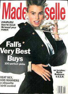 September 1990 cover with fifteen-year-old Niki Taylor Vogue Magazine Covers, Fashion Magazine Cover, Fashion Cover, 80s And 90s Fashion, World Of Fashion, Mademoiselle Magazine, Niki Taylor, Magazine Images, Glamour Magazine