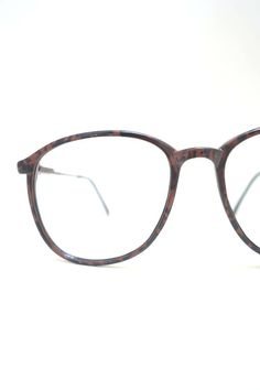 c6a977d6fc4 1980s Round Glasses - Round Oxblood Red Glasses - Espresso Brown Optical  Frames - 1980s Oversize Womens Glasses - Womens Round Glasses