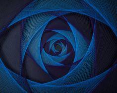 Arte de pared de luz Zen Pastel azul Resumen cadena arte