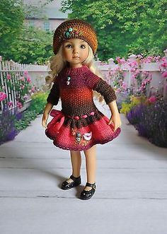 SOLD for one bid of $48.00 5/21/15. OOAK-OUTFIT-FOR-DOLLS-Little-Darlings-Effner-13