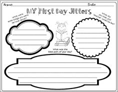 ALL About Me First Week of School Activities! First Day Jitters FREEBIE!